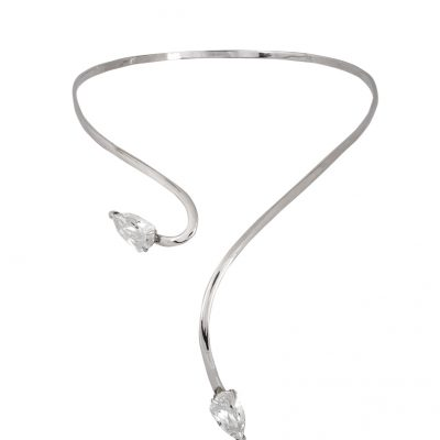 Cobra Rhodium Plated Necklace