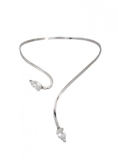 """Cobra""- Rhodium Plated Necklace"