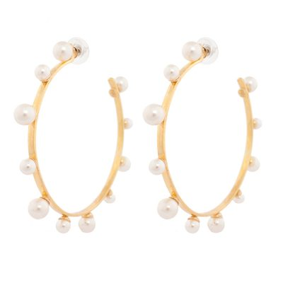 Pearl Magic - Gold Plated Hoops