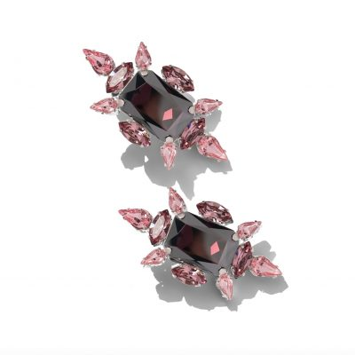 Crystal Chic Earrings - Vintage Rose