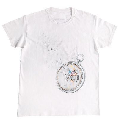 "No Guide ""Compass of dreams"" - White T-shirt- PRE ORDER!"