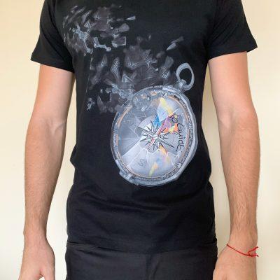 """NoGuide """"Compass of Dreams"""" – Black T-shirt"""