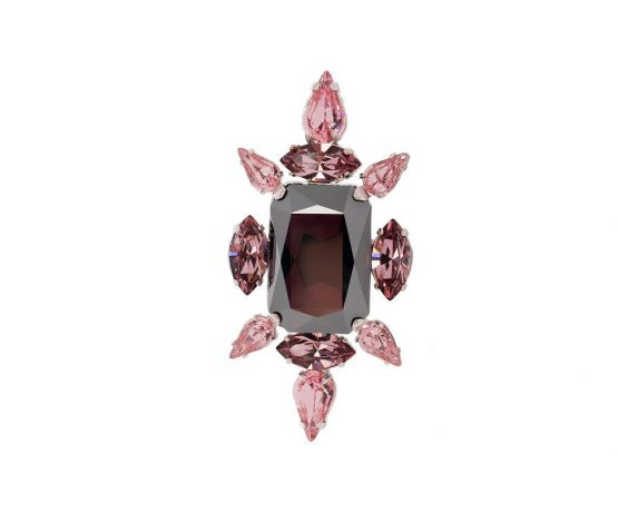 crystal chic ring vintage rose
