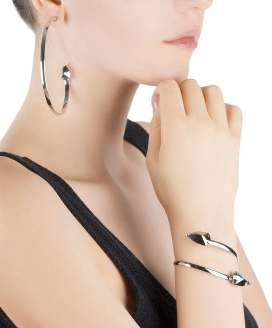 Cobra bracelet/hoops -hematite