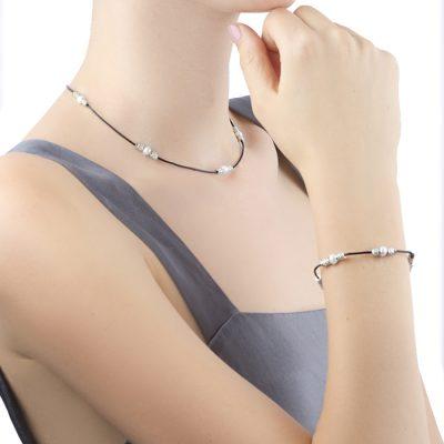 """Rossi""-Choker+Bracelet-Set"