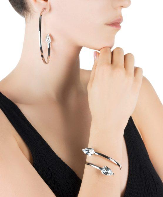Cobra bracelet/hoops -crystal