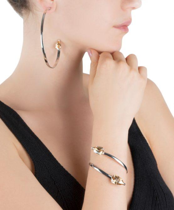 Cobra bracelet/hoops -golden shadow