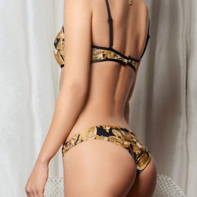 """Miss Piggy 2019""-printed bikini top"