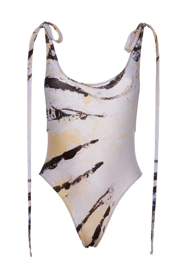 Zebra fish one piece swimsuit