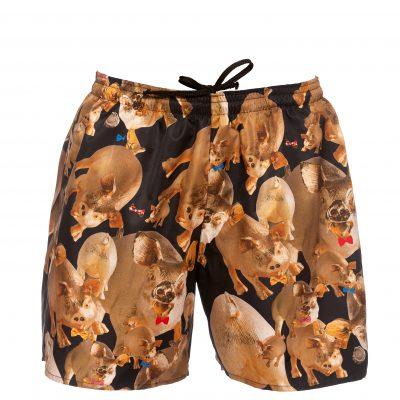"""""""Mr.Pig 2019"""" - printed swim shorts"""