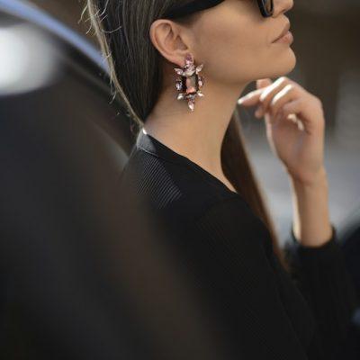 Crystal Chic Earrings – Vintage Rose