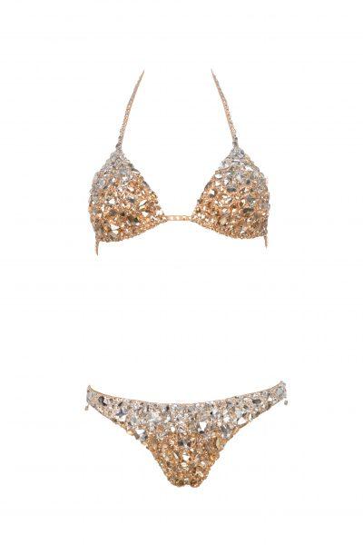 Crystal Icon - Swarovski Triangle  Bikini Top