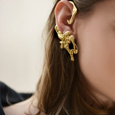 Liquefy – 14K gold plated sterling silver ear cuff