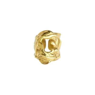 Liquefy - 14K gold plated sterling silver ring