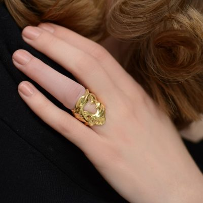 Liquefy – 14K gold plated sterling silver ring