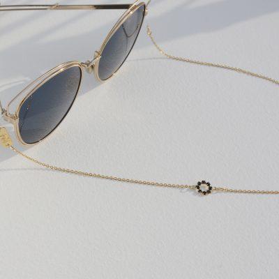 Crystal flower eyewear chain