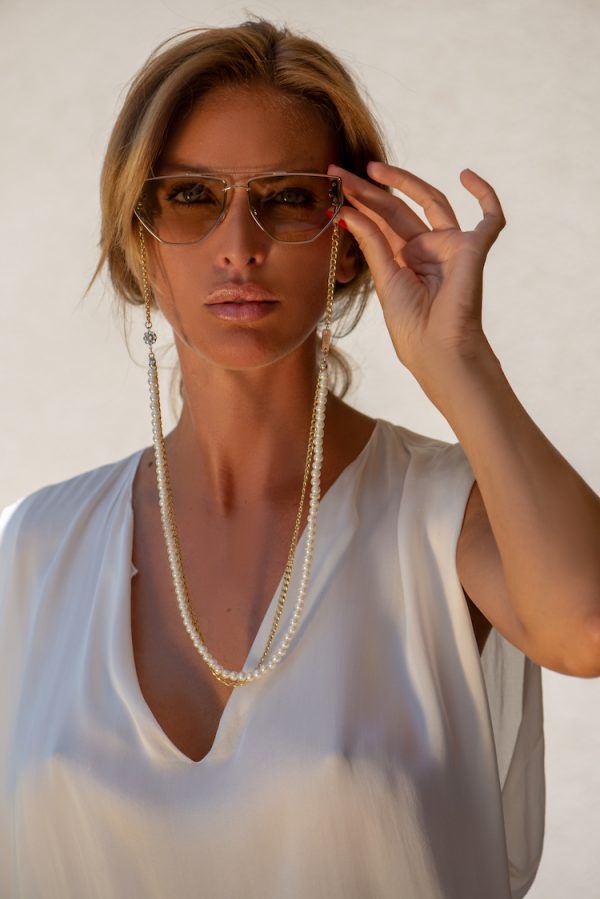 Gold Pearl Addict eyewear