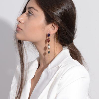 Violet Punk Mono Earring