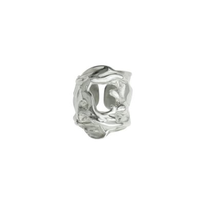 Liquefy - rhodium plated sterling silver ring