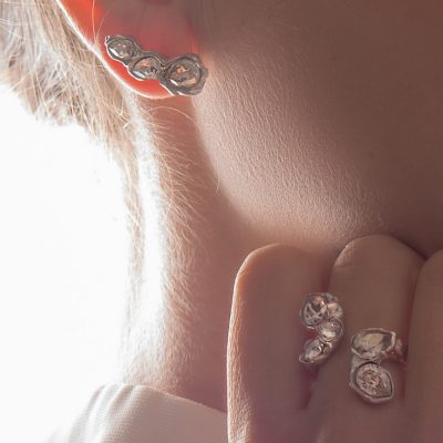 Blossom Earrings Crystal