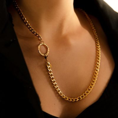 Gold Punch Necklace