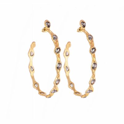 Gold Blossom Hoops