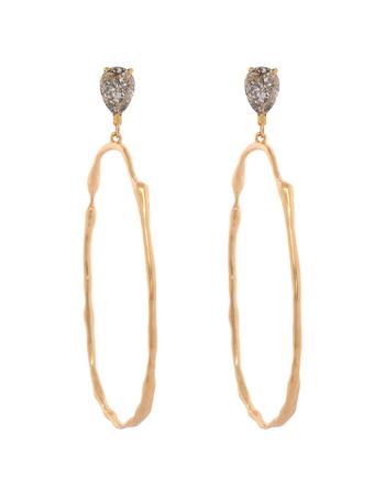 rusty ritz hoops earrings